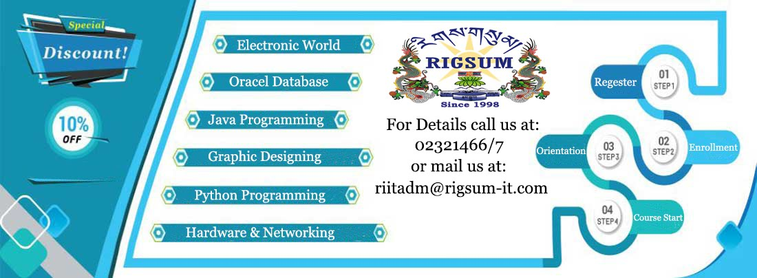 Admission open for IT and Graphic design courses: - Rigsum